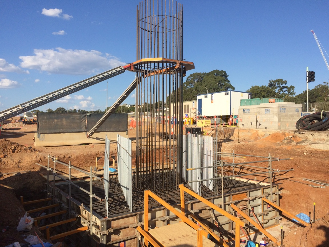March 2017 - Bridge 2 pile cap base ready to pour